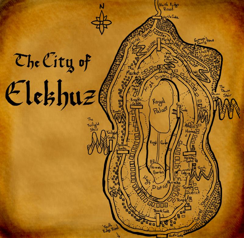 Elekhuz City Map